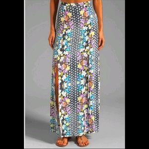 MinkPink Double Slit ColorfulWonderland Maxi Skirt